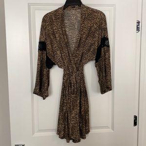 Like new In Bloom leopard print robe Size M/L
